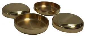 Brass Castor Coupes Set